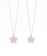 Best Friend necklace - set of 2 Blush and Powder Blue
