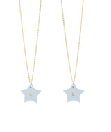 Best Friend necklace - set of 2 Powder Blue