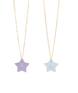 Best Friend necklace - set of 2 Lilac and Powder Blue