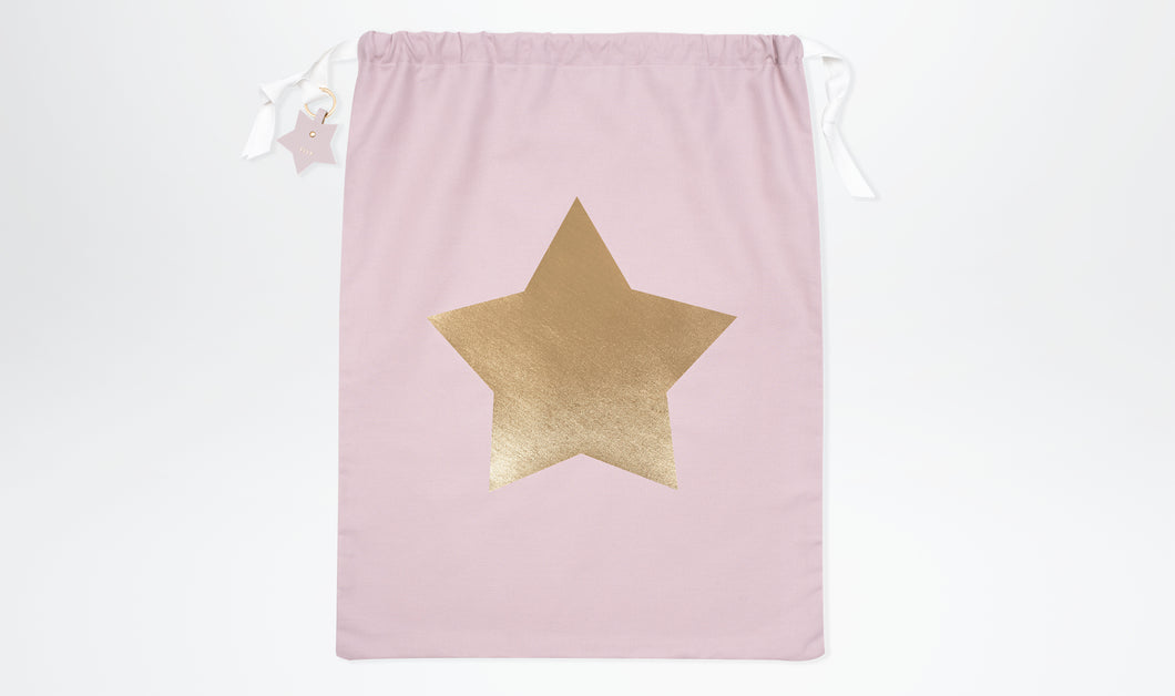 Limited Edition Santa Sack with Star - Blush & Gold