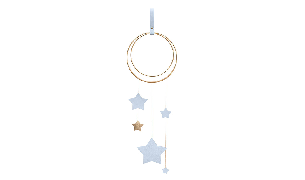 Little Star Wall Hanging - Powder Blue & Gold