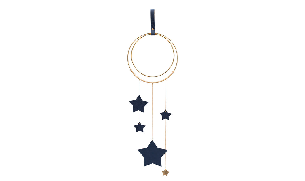 Little Star Wall Hanging - Navy & Gold