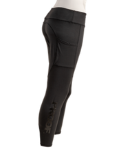 High-Waist Leggings ( Black Logo )
