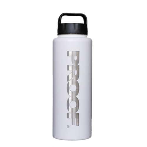 STAINLESS STEEL THERMAL BOTTLE - WHITE