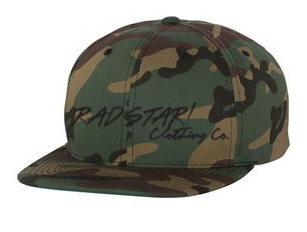 Green Camo Rad! Star Clothing Co. Snapback