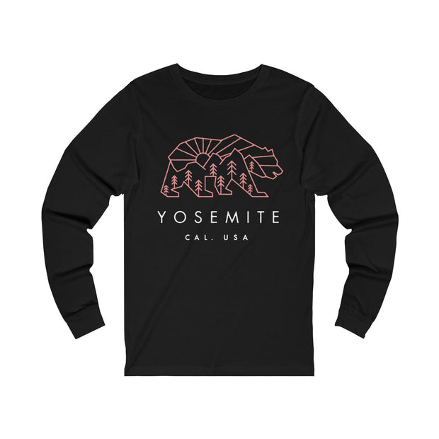 Yosemite National Park Bear - Long Sleeve Tee