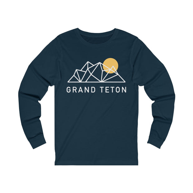Grand Teton National Park Geo - Long Sleeve Tee