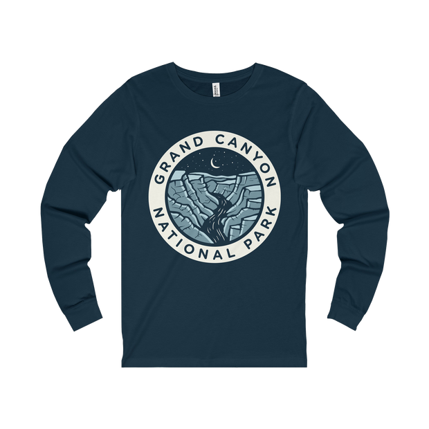 Grand Canyon Dark Sky Badge  - Long Sleeve Tee