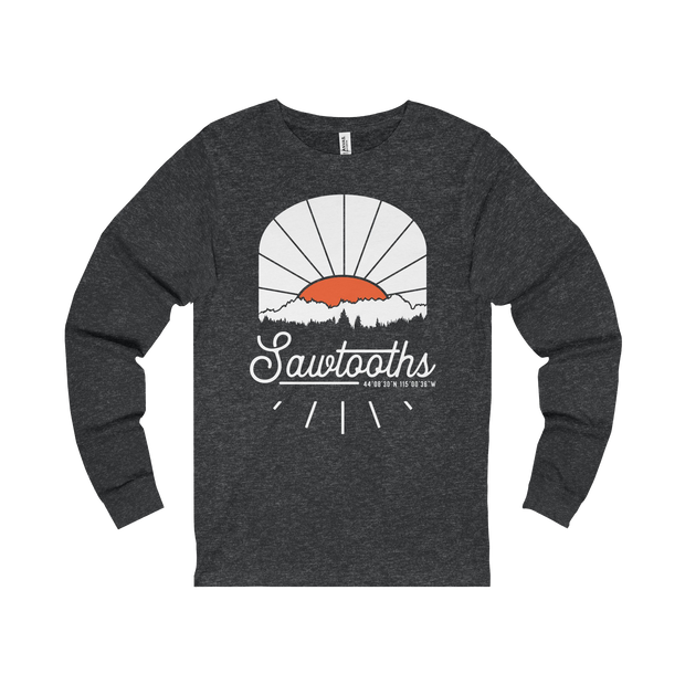 Sawtooth Mountains Sunrise - Long Sleeve Tee