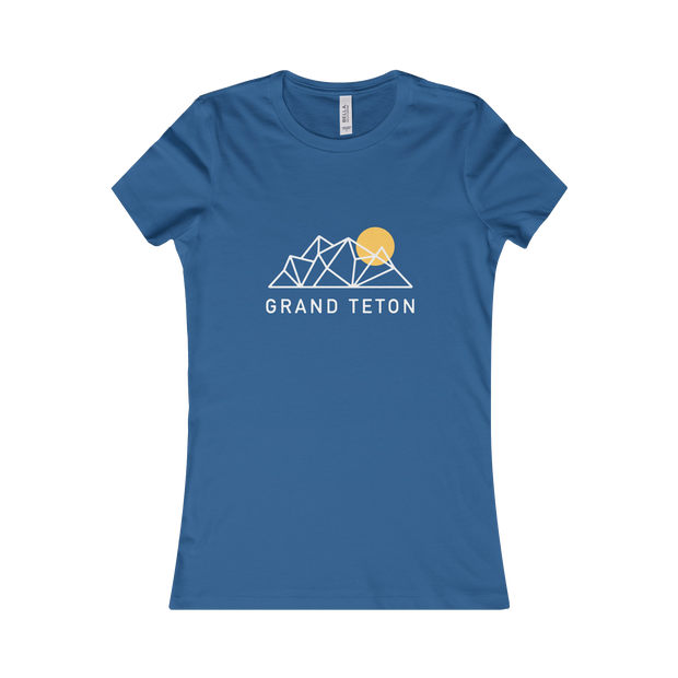 Grand Teton National Park Geo - Women's Tee