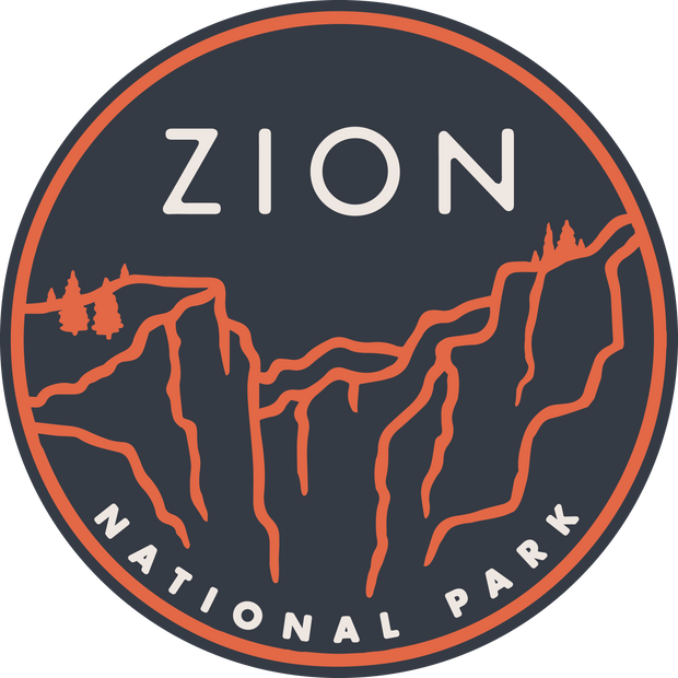 Zion National Park Round Sticker