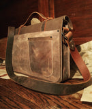Handcrafted Leather messenger chalmers bag