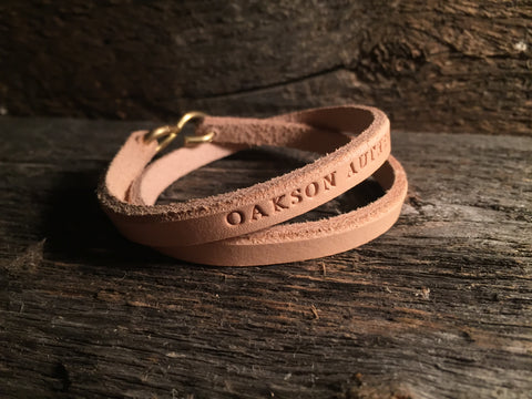 Hand Cut Leather Bracelet - Natural