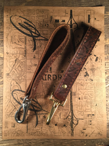 Key Grab Lanyard Light Brown Character
