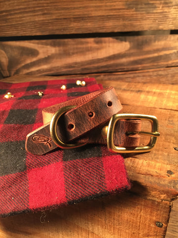 "Dog Collar - 3/4"" Wide Brown"