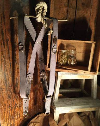 handcrafted leather camera harness