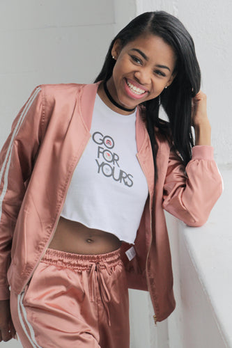 White Go for Yours Women's Crop Top