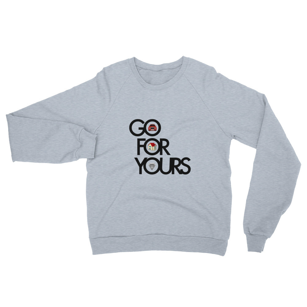 Go for Yours Gray Unisex California Fleece Raglan Sweatshirt