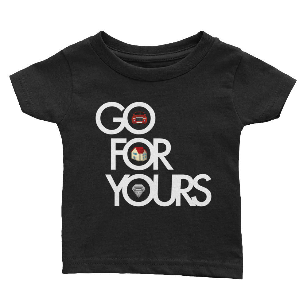 Black Go for Yours Infant Tee
