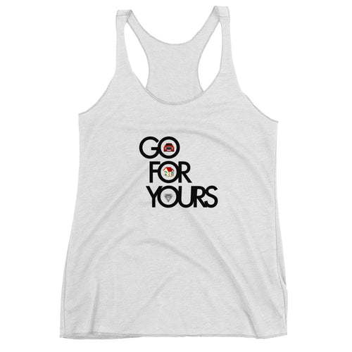 White Go for Yours Women's Racerback Tank