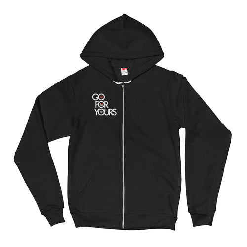 Go for Yours Unisex Black Hoodie Zip Up