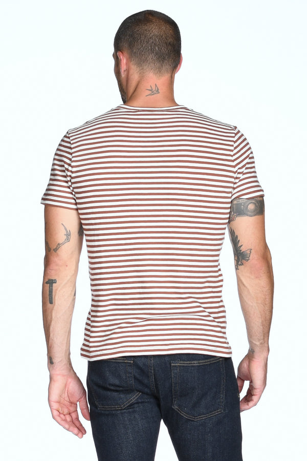 Men's V-Pocket Stripe Tee