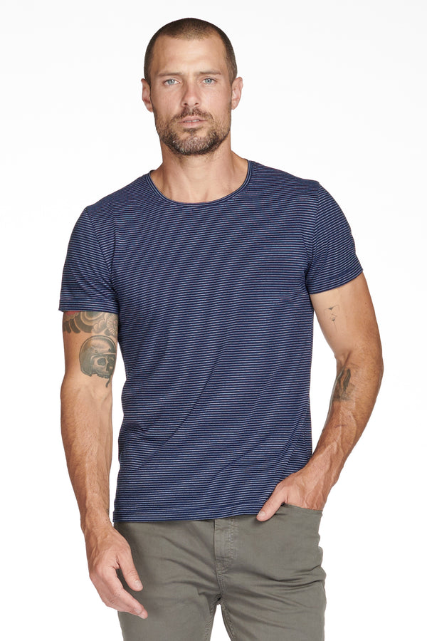 Men's Crew Neck Stripe Tee