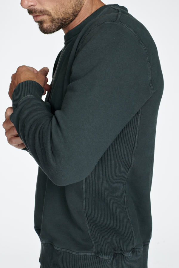 Men's Briggs Velour Back French Terry Crew Neck Sweatshirt