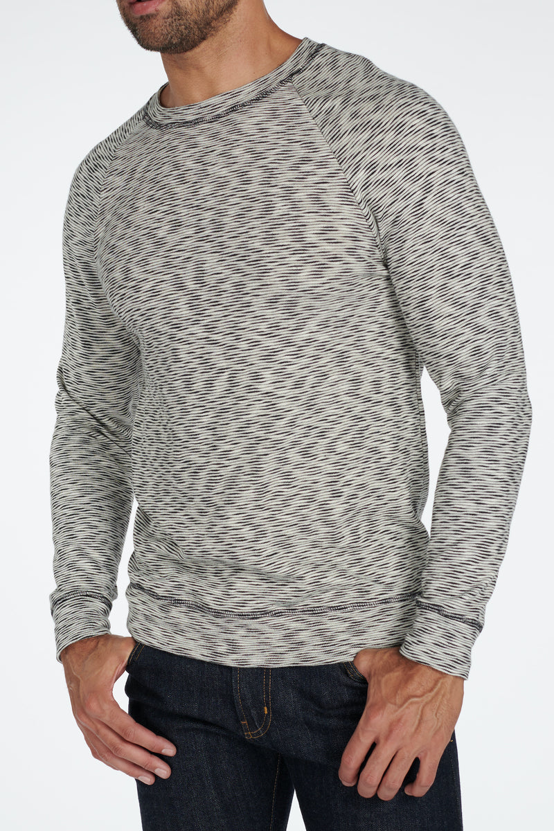 Men's Pullover Sweater - Variegated Ivory/Black