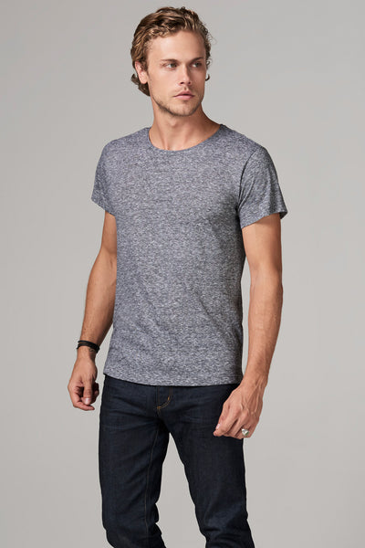 MEN'S CREW NECK TEE - MINI STRIPE