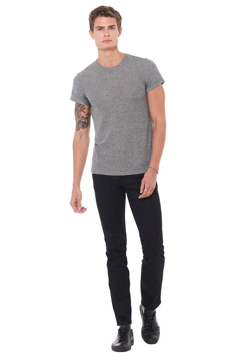 Men's Novelty Texture Crew Neck Tee