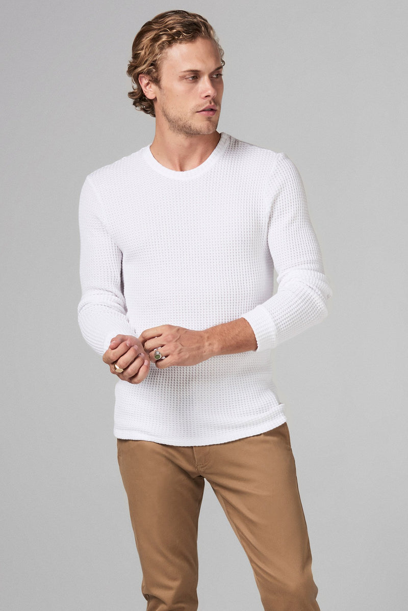 Men's Waffle Thermal Pullover Sweater
