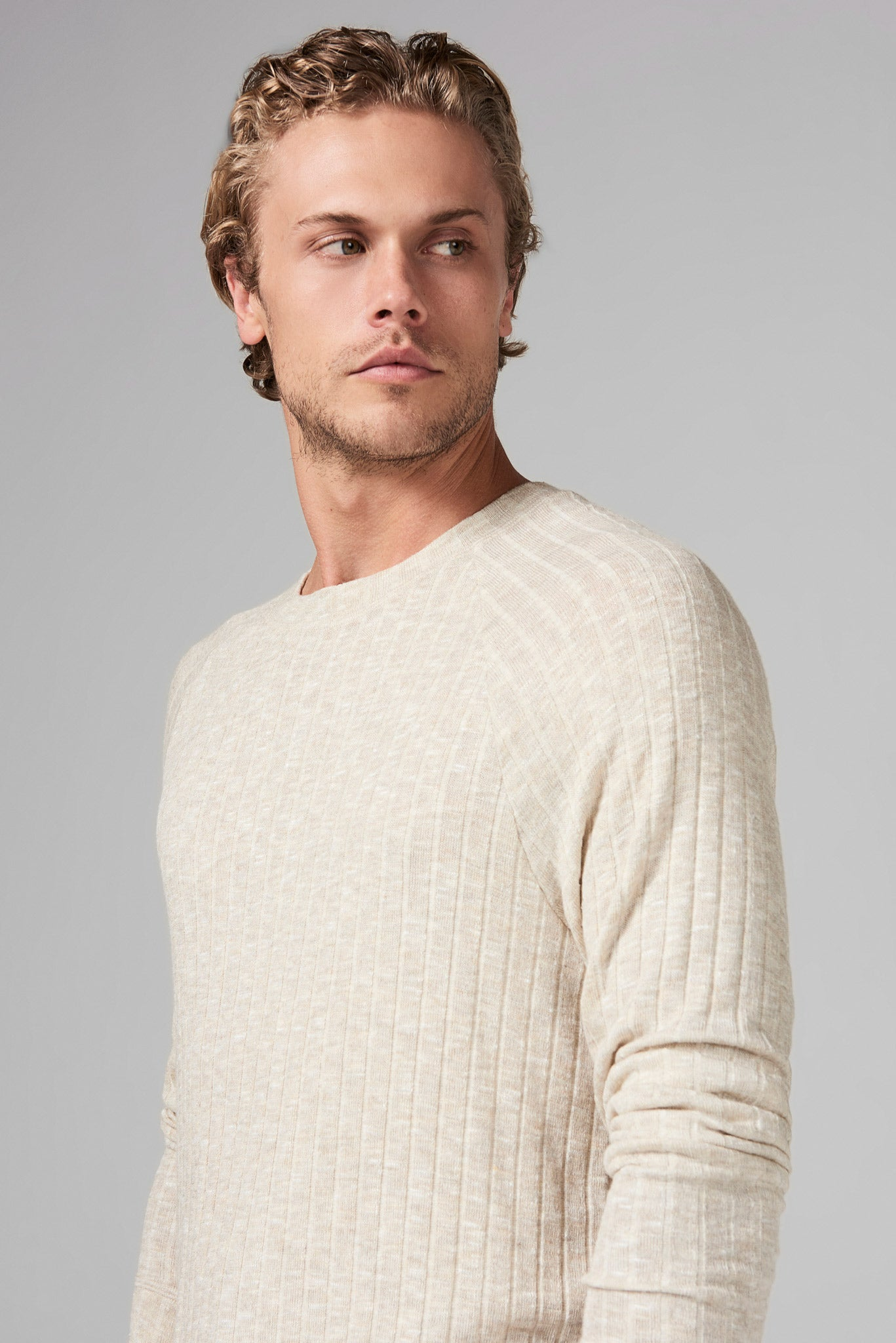 MEN'S SWEATER PULLOVER - CAMEL