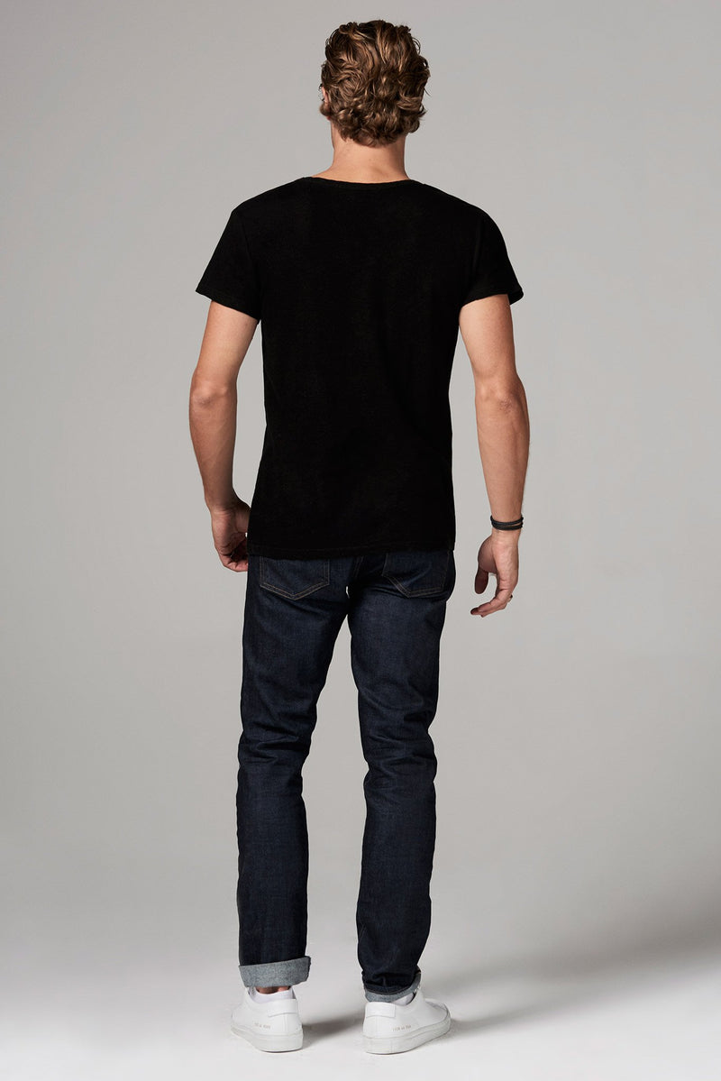 Men's Heavy Cotton Cross V-Neck Tee