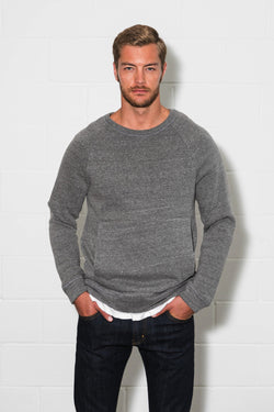 Men's French Terry Kangaroo Pocket Crew Sweatshirt