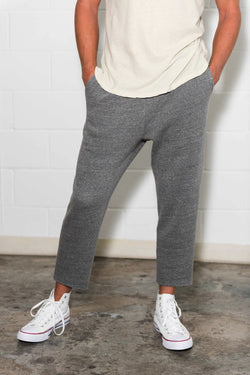 Men's French Terry Cut Off Raw Hem Sweatpant