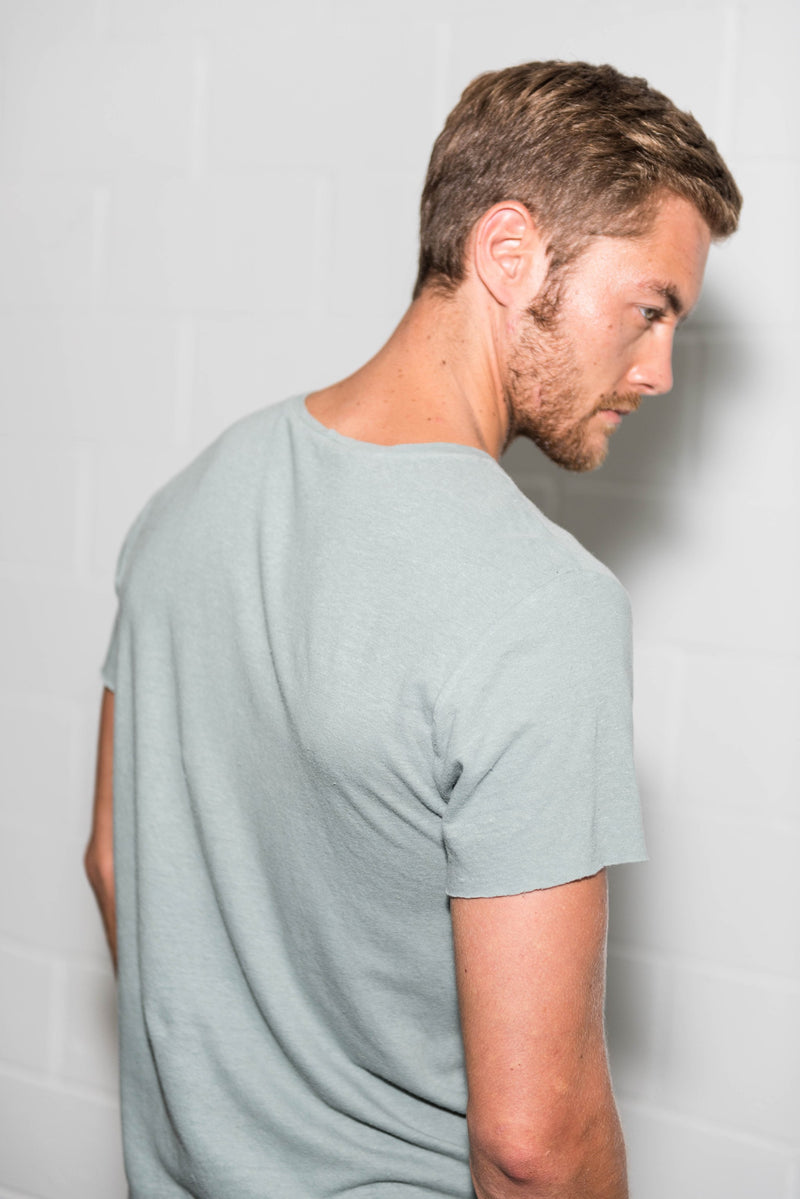 Men's Linen Blend Crew Neck Tee