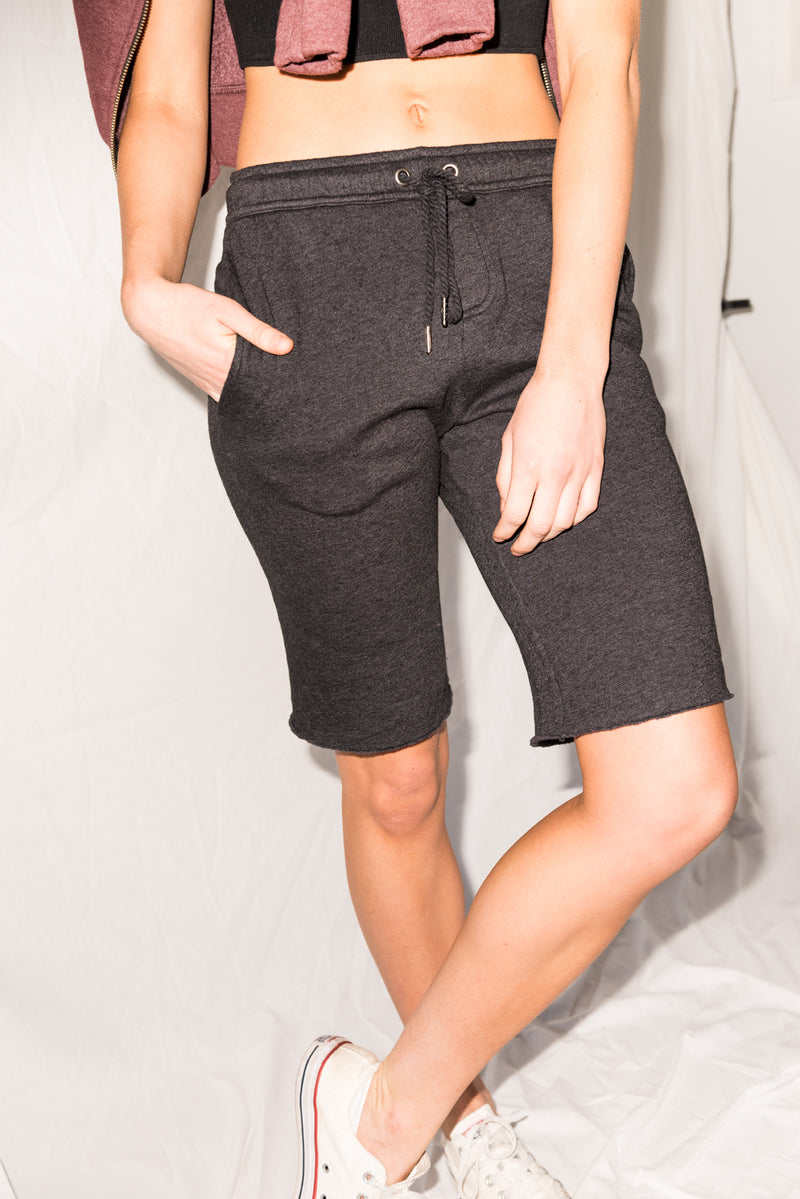 WOMEN'S FRENCH TERRY SHORT - BLACK