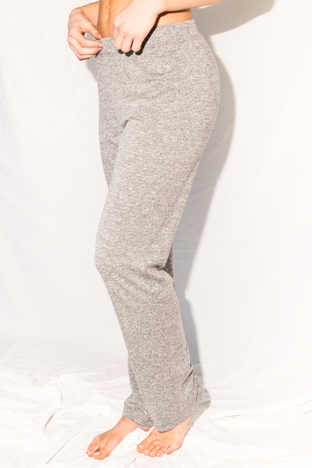 WOMEN'S NOVELTY TEXTURE LOUNGE PANT - MELANGE
