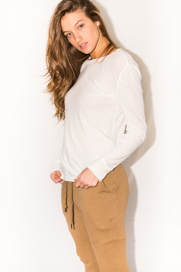 WOMEN'S FRENCH TERRY JOGGER PANT - CAMEL