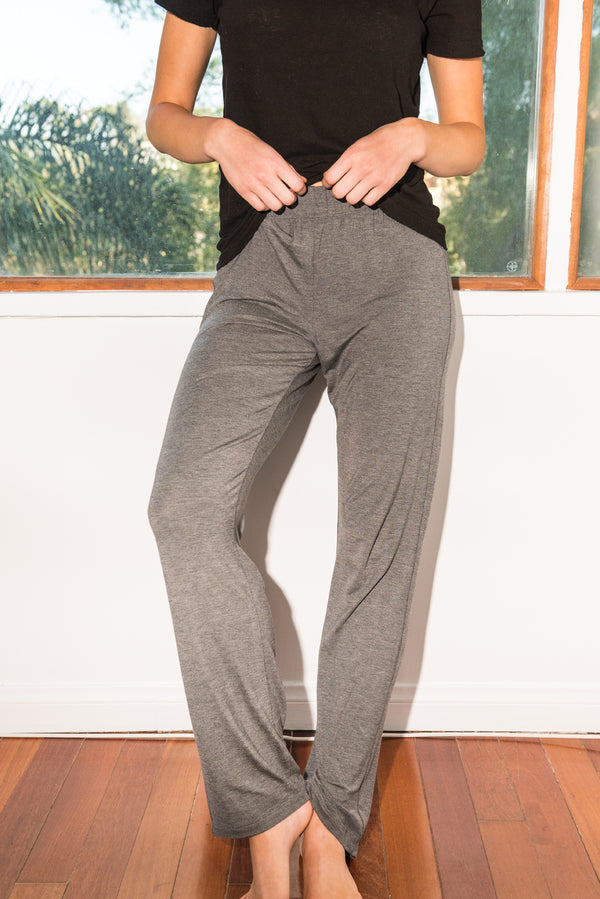 WOMEN'S MODAL LOUNGE PANT - HEATHER GREY