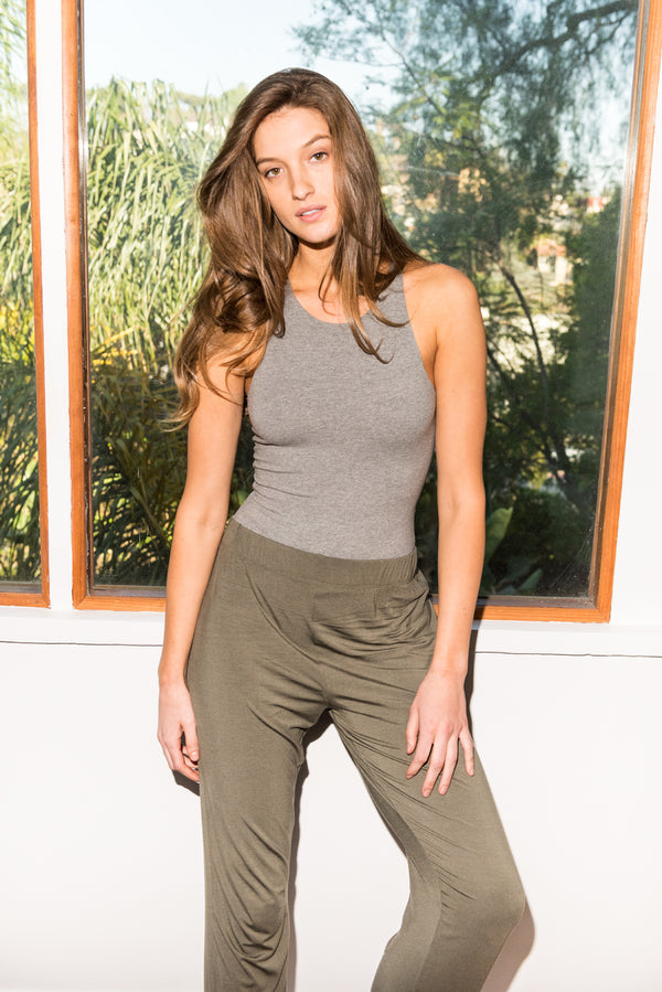 WOMEN'S MODAL LOUNGE PANT - ARMY