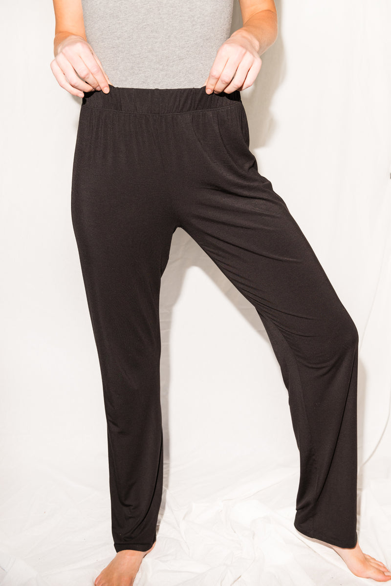 WOMEN'S MODAL LOUNGE PANT - BLACK