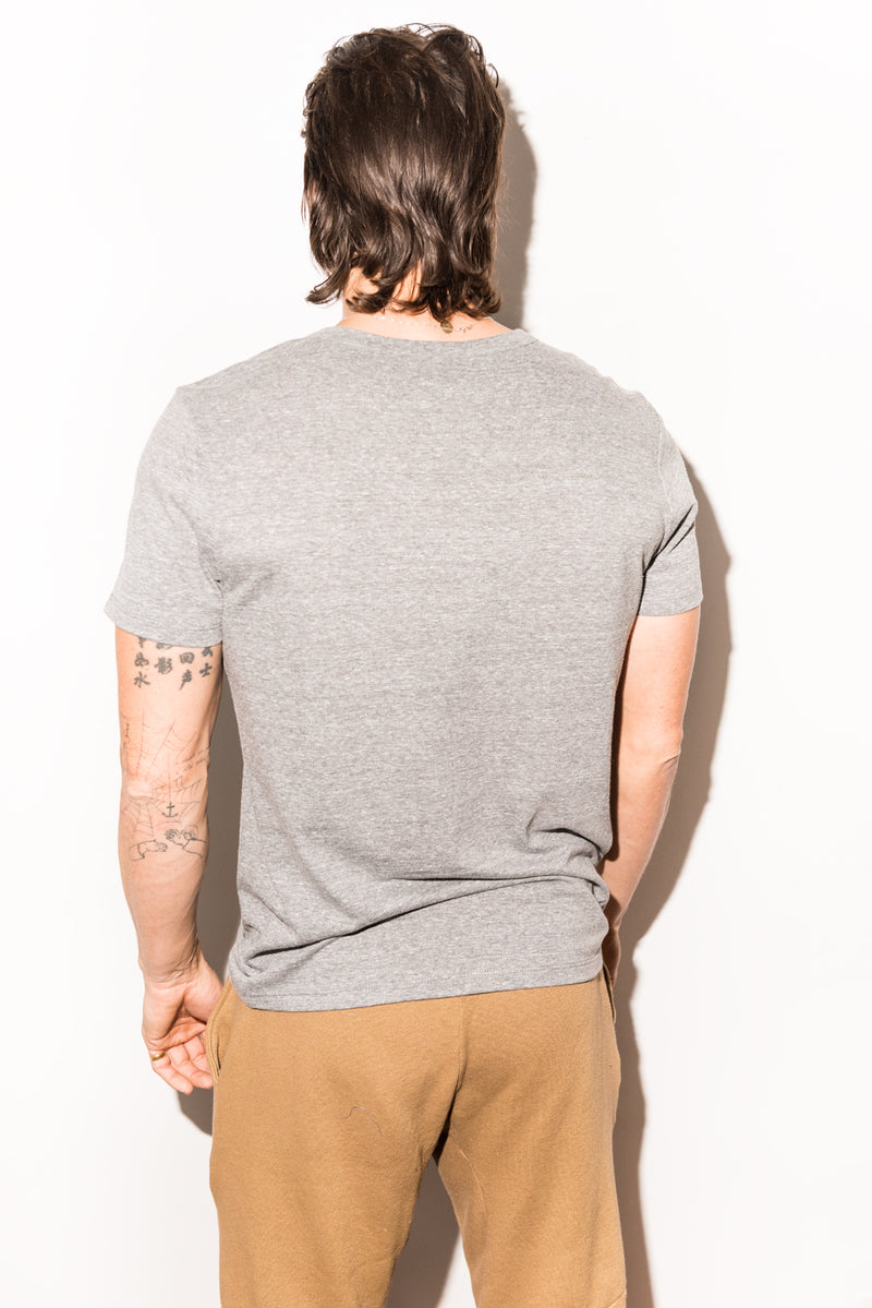 Men's Jersey Cross V-Neck Tee - Light Heather Grey