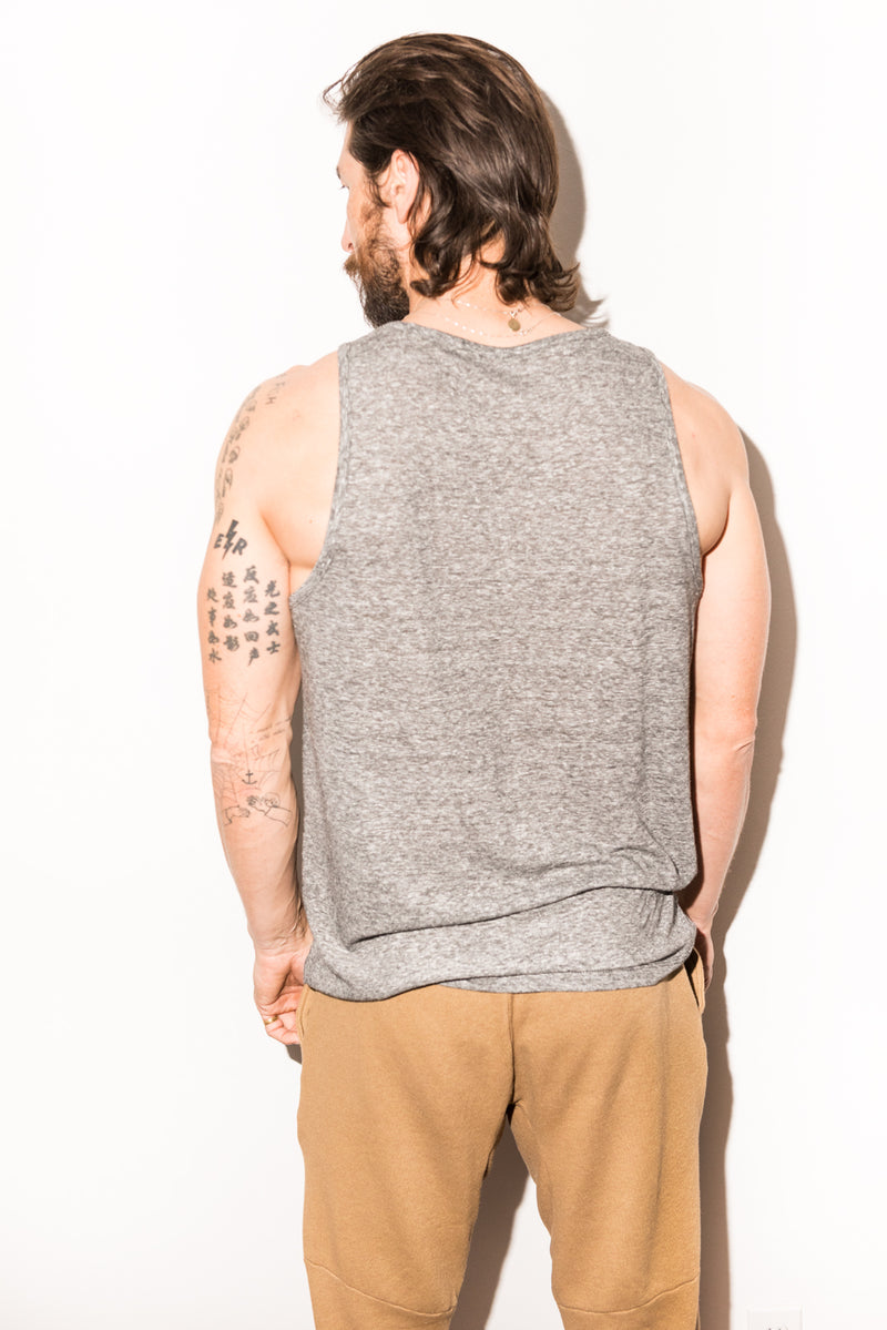 Men's Scoop Neck Tank Top - Mini Stripe