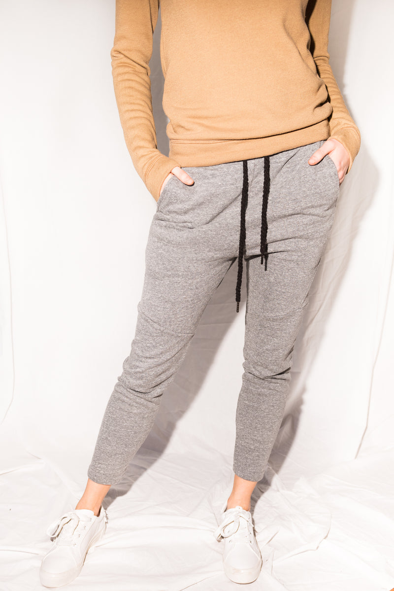 WOMEN'S FRENCH TERRY JOGGER PANT - HEATHER GREY