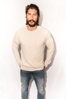 Men's Pullover Sweater - Camel