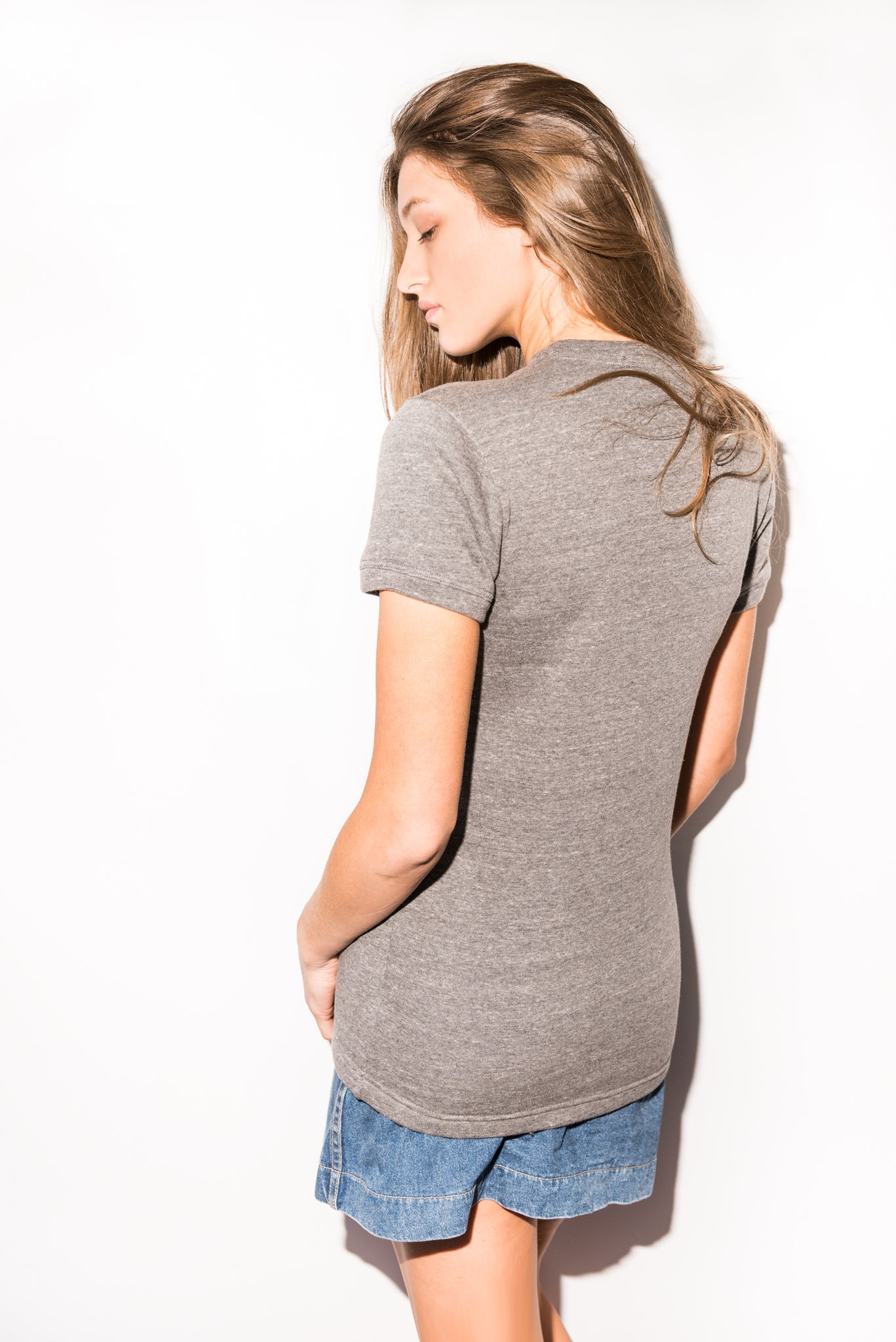 WOMEN'S FRENCH TERRY TEE - HEATHER GREY