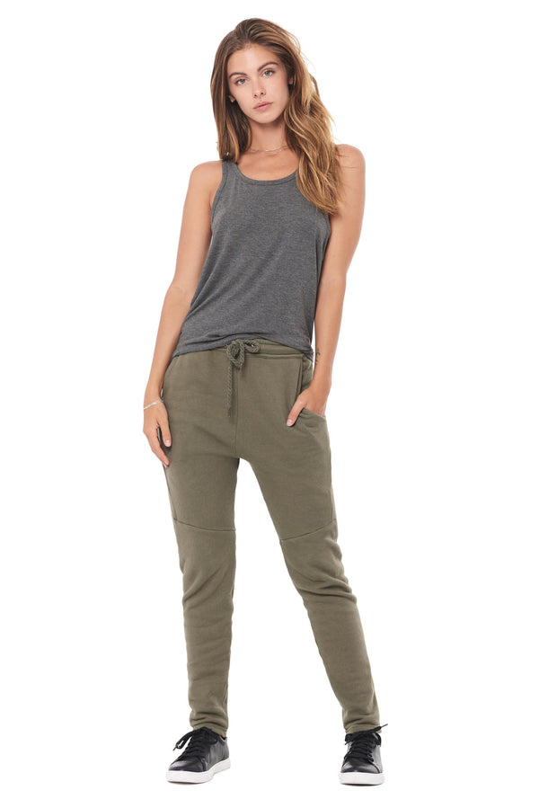 WOMEN'S FRENCH TERRY JOGGER PANT - ARMY