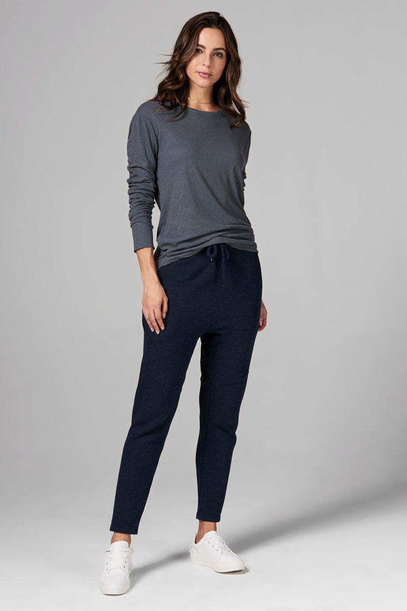 WOMEN'S FRENCH TERRY JOGGER PANT - NAVY